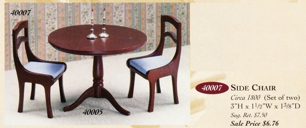 Catalog image of Hepplewhite Side Chair (2)