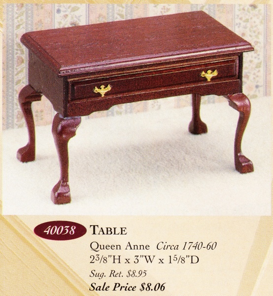 Catalog image of Queen Anne Table