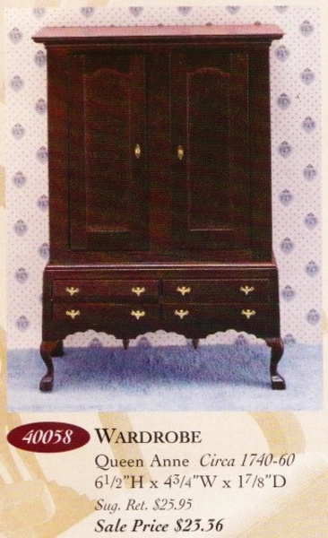 Catalog image of Queen Anne Wardrobe