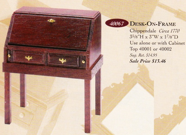 Catalog image of Chippendale Desk on Frame